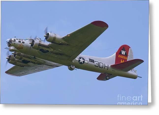 B-17G Aluminum Overcast Greeting Card by Tim Mulina