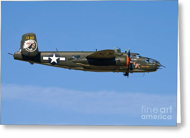Transportation Greeting Cards - B-25 Mitchell Show Me Greeting Card by Tim Mulina