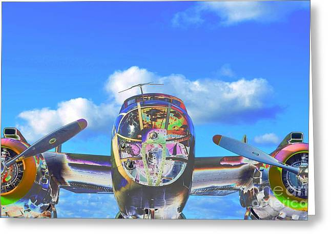 Fixed Wing Multi Engine Greeting Cards - B-25J Jazzed Greeting Card by Lynda Dawson-Youngclaus
