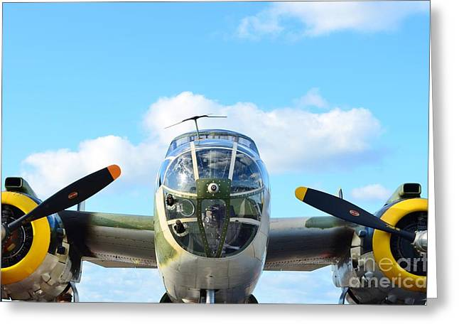 Fixed Wing Multi Engine Greeting Cards - B-25J Killer B Greeting Card by Lynda Dawson-Youngclaus