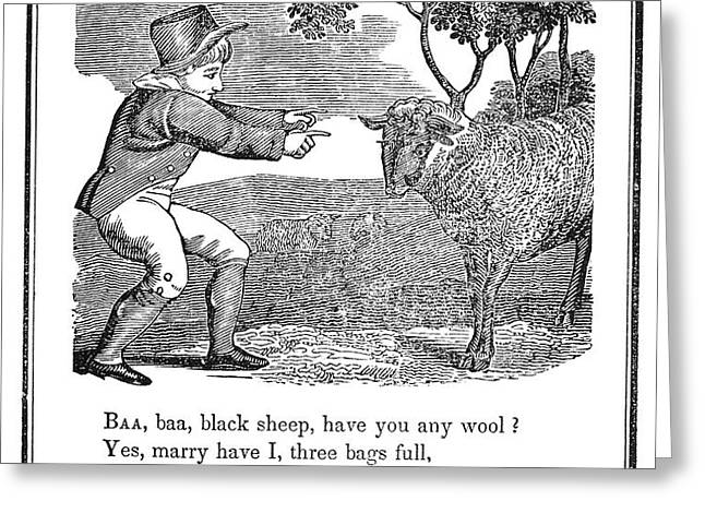 BAA, BAA, BLACK SHEEP, 1833 Greeting Card by Granger