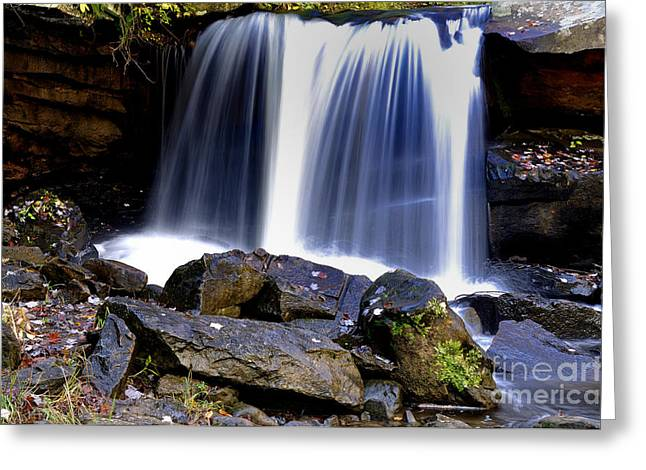 Babcock Greeting Cards - Babcock State Park Waterfall Greeting Card by Thomas R Fletcher