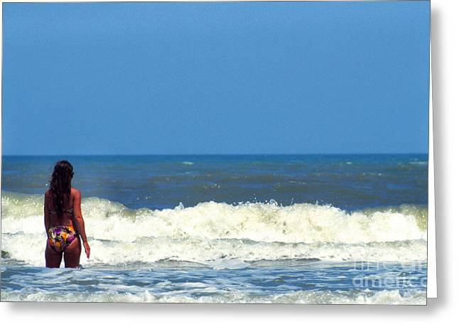 Smyrna Greeting Cards - Babe at the Beach Greeting Card by Thomas R Fletcher