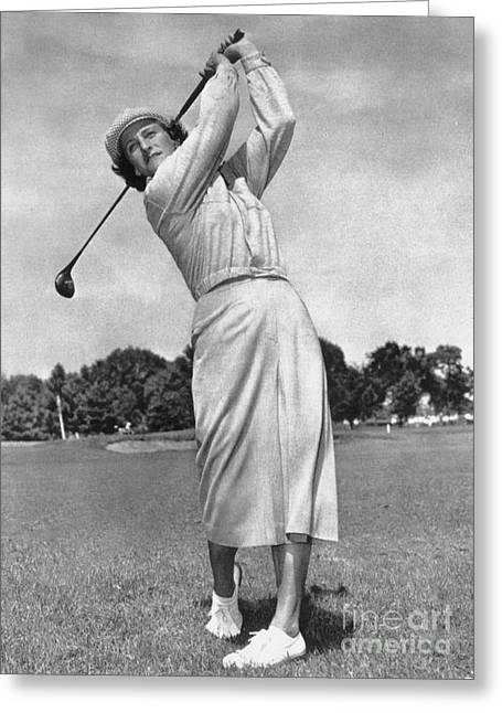 Long Skirt Greeting Cards - Babe Didrikson Zaharias Greeting Card by Granger