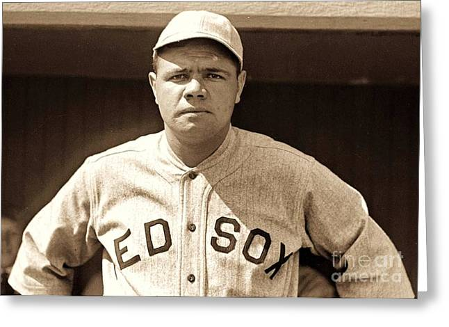 Sultan Of Swat Greeting Cards - Babe Ruth Greeting Card by Reproduction