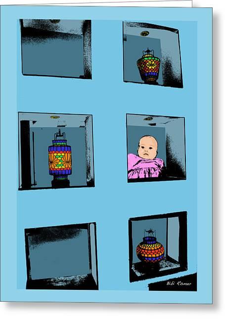 Fun Digital Art Greeting Cards - Baby Art Greeting Card by Bibi Romer