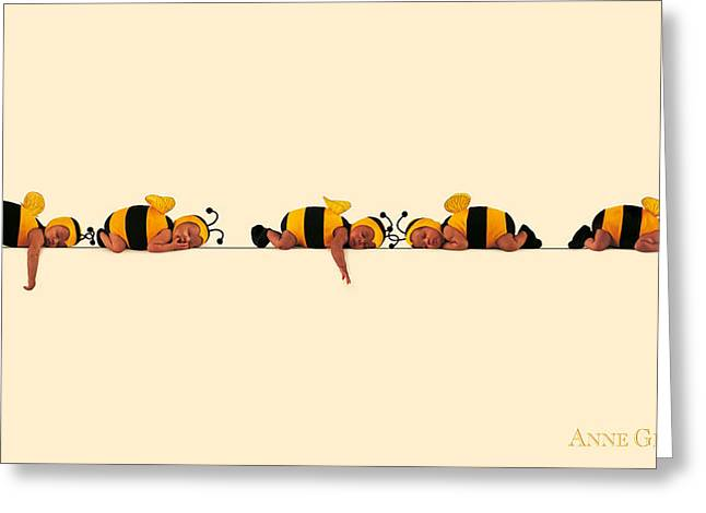 Babies Greeting Cards - Baby Bees Greeting Card by Anne Geddes