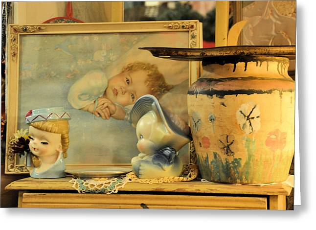 Interior Still Life Photographs Greeting Cards - Baby Boy Greeting Card by Jan Amiss Photography