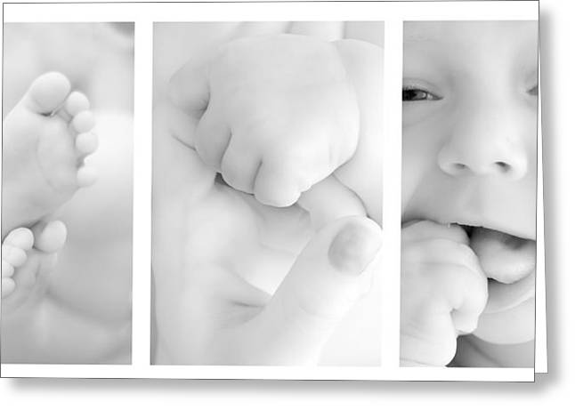 Babies Greeting Cards - Baby details Greeting Card by Jaroslaw Grudzinski