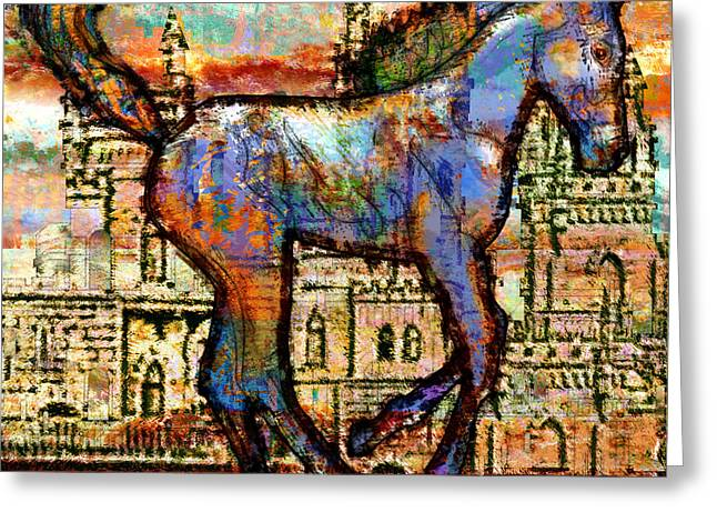 Ogling Greeting Cards - Baby Horse of the Apocalypse Greeting Card by Mary Ogle
