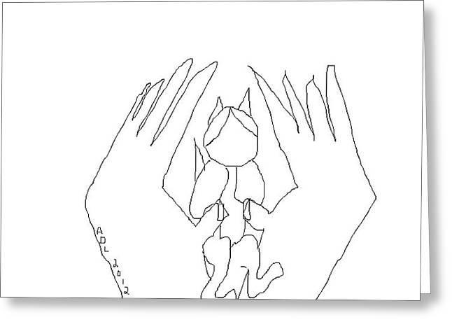 Praying Hands Greeting Cards - Baby is Home Greeting Card by Anita Dale Livaditis