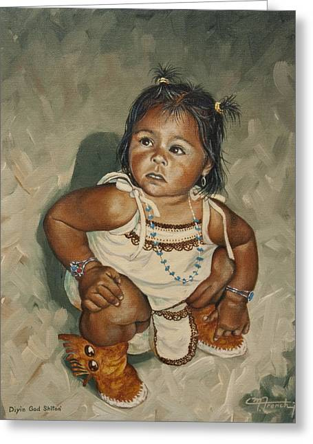 Baby Leah Greeting Card by C Michael French