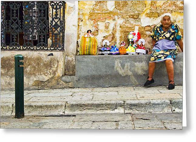 Oaxaca Greeting Cards - Baby Mama Greeting Card by Skip Hunt