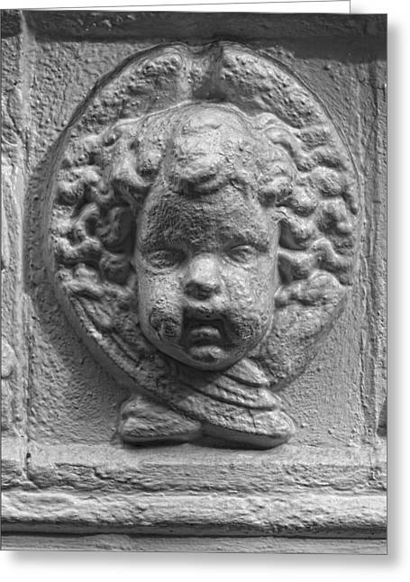 Bas-relief Greeting Cards - Baby Stone Face Greeting Card by Robert Ullmann