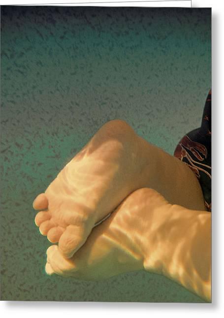 Tony Grider Greeting Cards - Baby Swim Greeting Card by Tony Grider