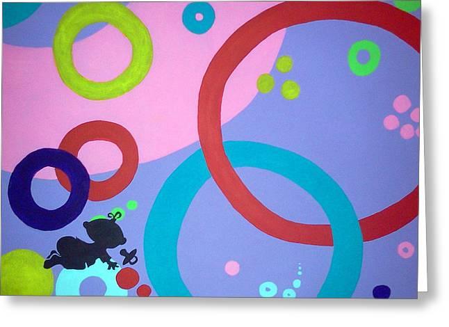 Circle Hook Greeting Cards - Babys First Sight Greeting Card by Kayon Cox