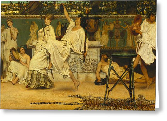 Neo Greeting Cards - Bacchanal Greeting Card by Sir Lawrence Alma-Tadema