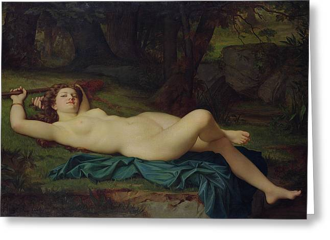 Relaxed Greeting Cards - Bacchante Greeting Card by Pierre Honore Hugrel