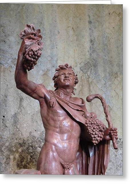 Cellar Greeting Cards - Bacchus Greeting Card by Mindy Newman