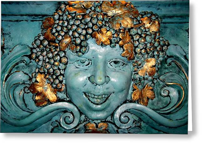 Grape Leaves Greeting Cards - Bacchus Greeting Card by Randall Weidner