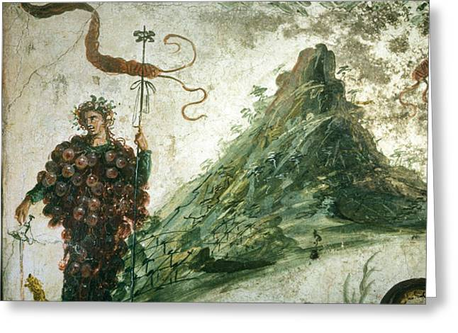 Bacchus, Roman God Of Wine, Stands Greeting Card by O. Louis Mazzatenta