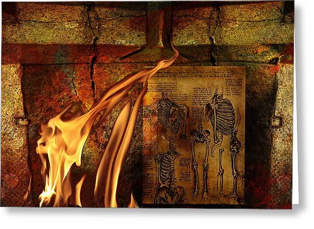 Back Bone #3 Greeting Card by Janet Kearns