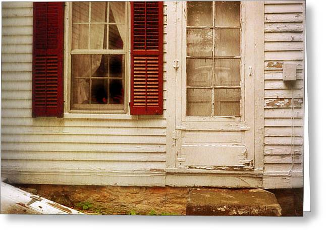 Back Door of Old Farmhouse Greeting Card by Jill Battaglia