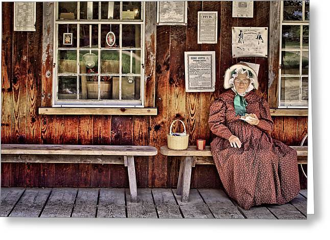Sturbridge Village Greeting Cards - Back in the Days Greeting Card by Evelina Kremsdorf