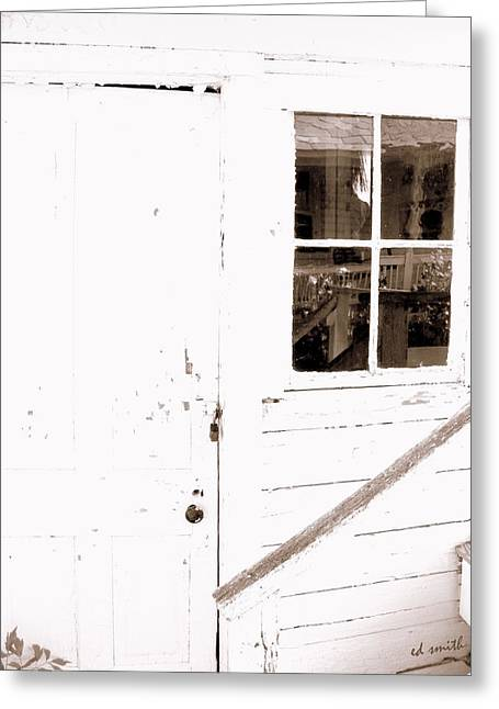 Back Porch Reflections Greeting Card by Ed Smith
