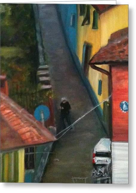 Back Street  Greeting Card by Betty Pimm
