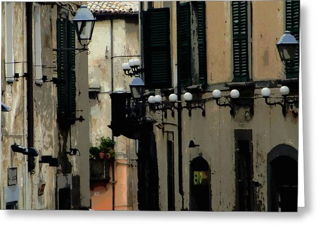 Orvieto Greeting Cards - Back streets of Orvieto Italy Greeting Card by Mindy Newman