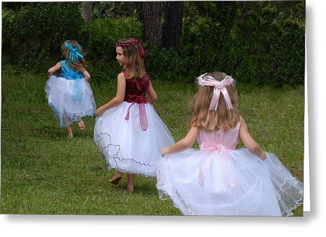 Running Princess Greeting Cards - Back to Fairyland Greeting Card by Claire Pridgeon