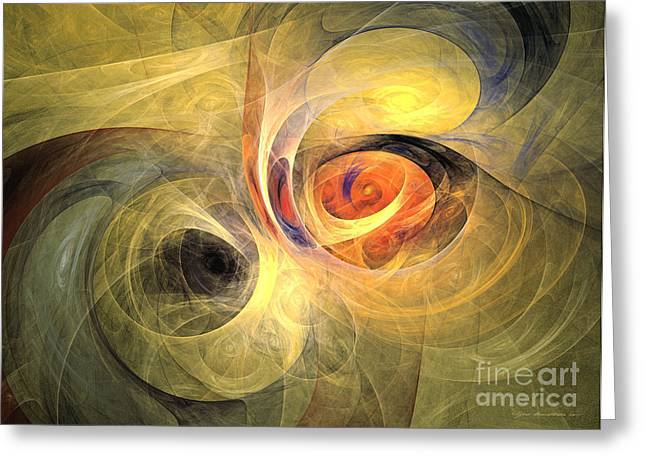 Interior Still Life Mixed Media Greeting Cards - Back to nature - abstract art Greeting Card by Abstract art prints by Sipo