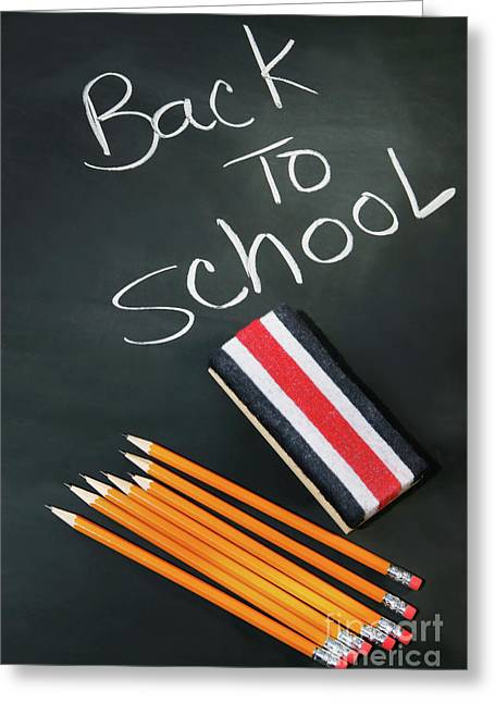 Educate Greeting Cards - Back to school acessories Greeting Card by Sandra Cunningham