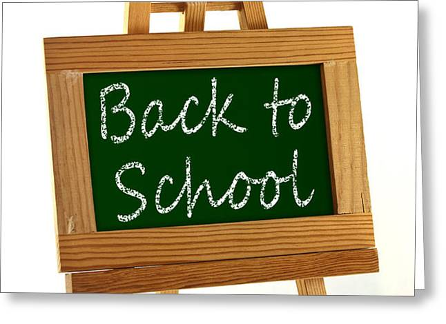 Back to School sign Greeting Card by Blink Images