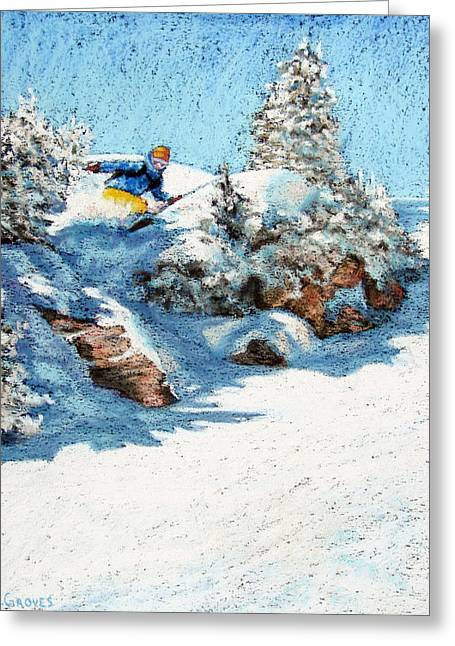Print On Acrylic Pastels Greeting Cards - Backcountry Greeting Card by Abbie Groves