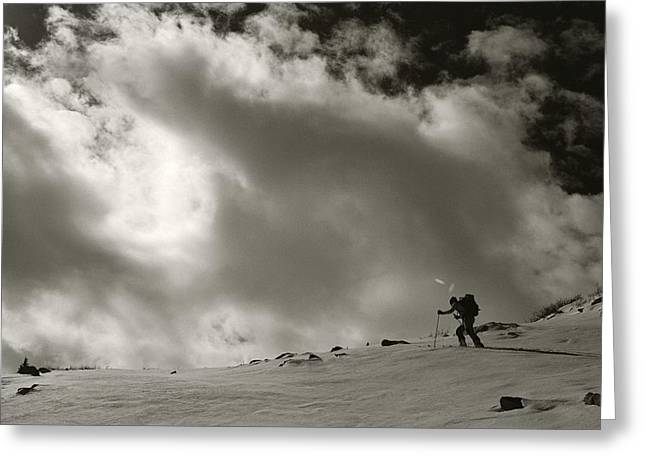 Model Colorado Greeting Cards - Backcountry Skiing On Hesperus Peak Greeting Card by Bill Hatcher