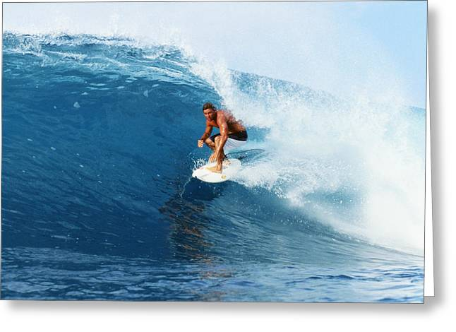Surfing Art Greeting Cards - Backdoor Pipe Greeting Card by Vince Cavataio - Printscapes