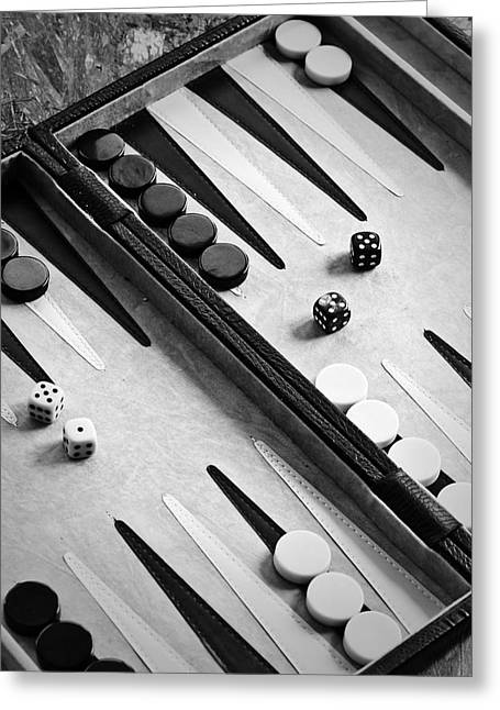 Game Piece Greeting Cards - Backgammon Greeting Card by Joana Kruse