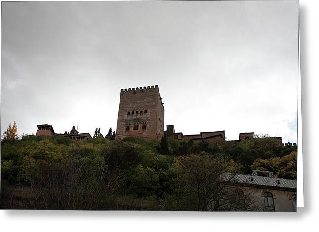 Southern Province Greeting Cards - Backlit Castle Greeting Card by Lorraine Devon Wilke