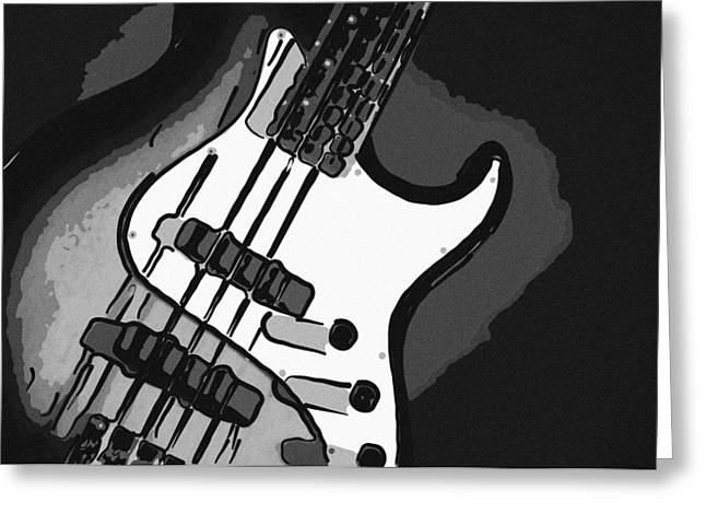 Combo Greeting Cards - Bad Boy Guitar Greeting Card by M K  Miller