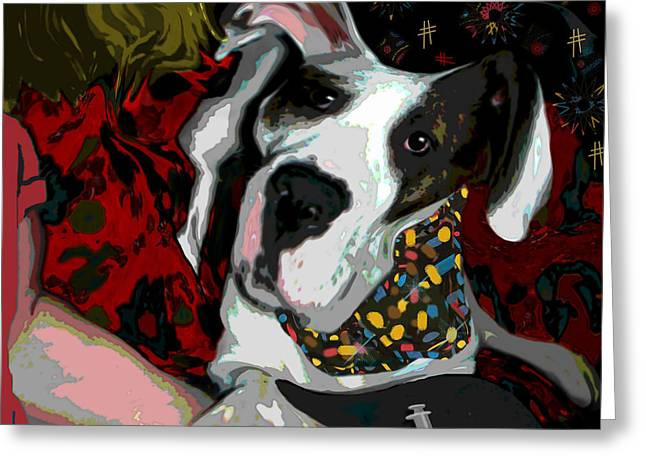 Party Invite Paintings Greeting Cards - Bad Drugs Greeting Card by Jann Paxton