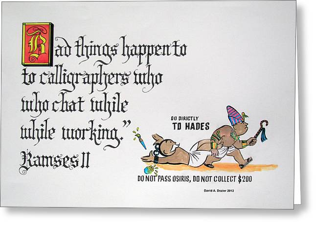 Monopoly Mixed Media Greeting Cards - Bad Things Greeting Card by David Dozier