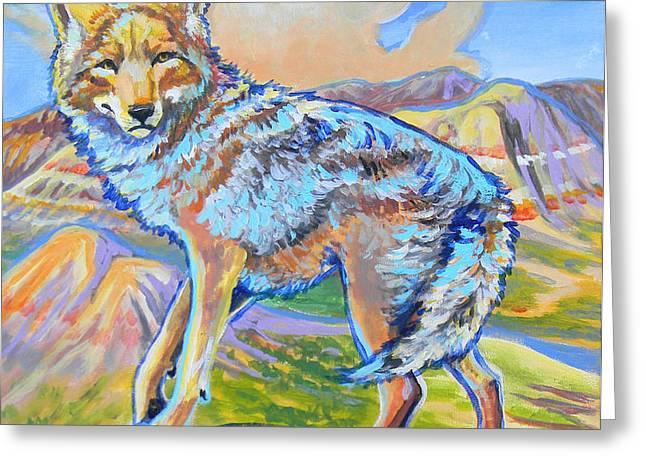Badland coyote Greeting Card by Jenn Cunningham