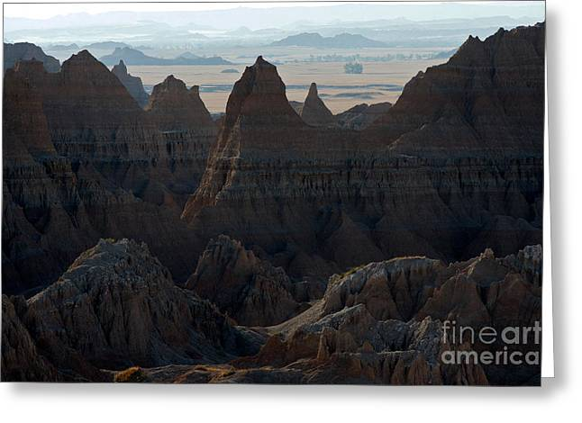 Badland Horizons Greeting Card by Chris  Brewington Photography LLC