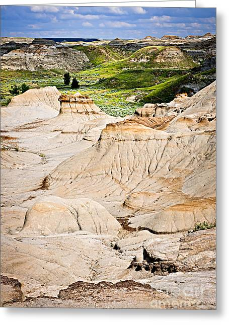 Canada Landscape Greeting Cards - Badlands in Alberta Greeting Card by Elena Elisseeva