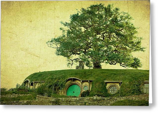 Hobbits Greeting Cards - Bagend Homes Greeting Card by Linde Townsend