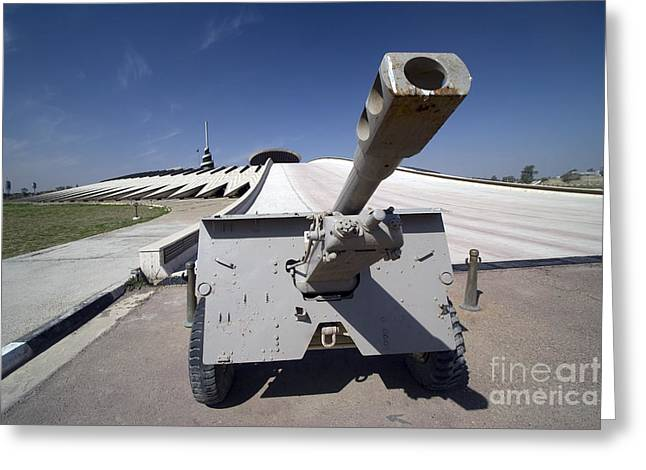 Baghdad Greeting Cards - Baghdad, Iraq - An Iraqi Howitzer Sits Greeting Card by Terry Moore
