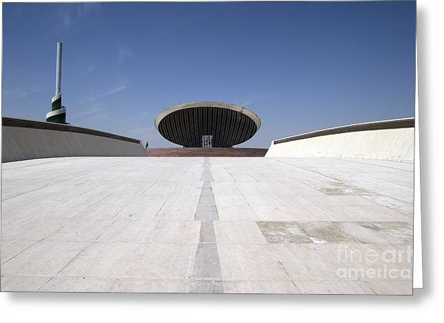 Monument To The Unknown Soldier Greeting Cards - Baghdad, Iraq - The Ramp That Leads Greeting Card by Terry Moore