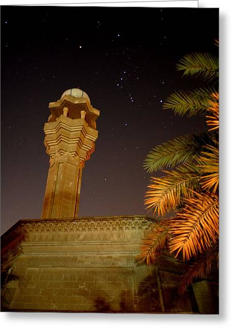 Baghdad Greeting Cards - Baghdad Night Sky Greeting Card by Rick Frost
